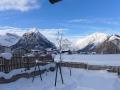 Blick vom Ferienhaus Felkel aufs Karwendel